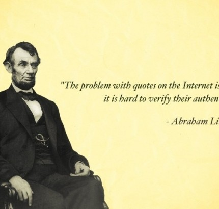 Lincoln Joke Quote