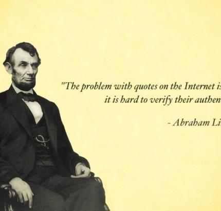 Lincoln Joke Quote